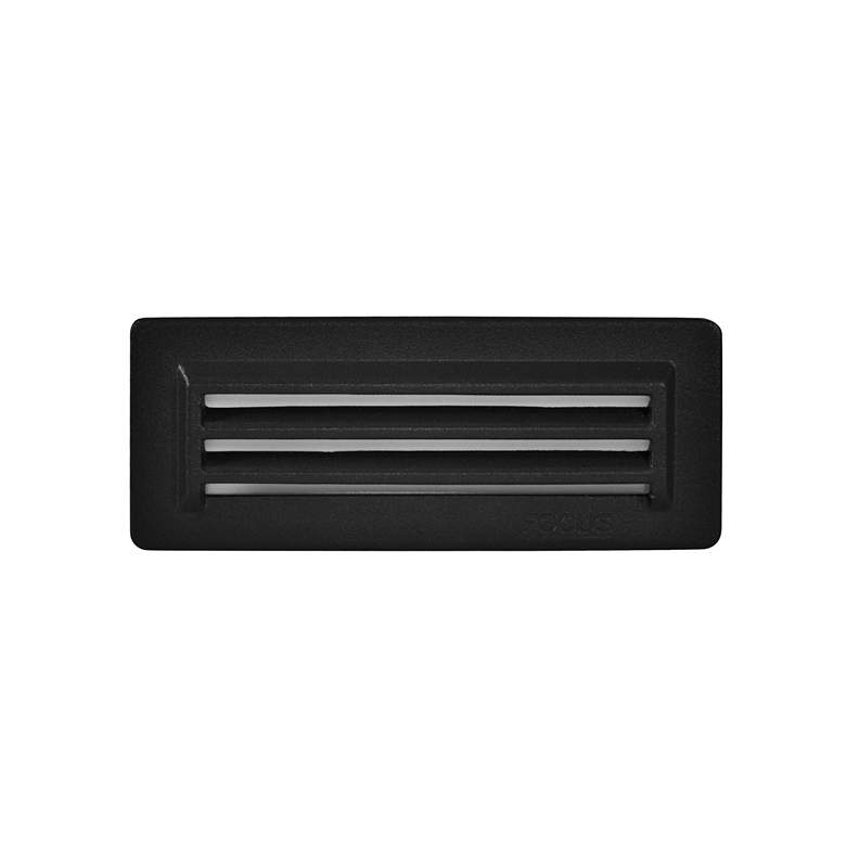 "Black Texture 8 1/4"" Wide 3-Louver LED Step/Brick"