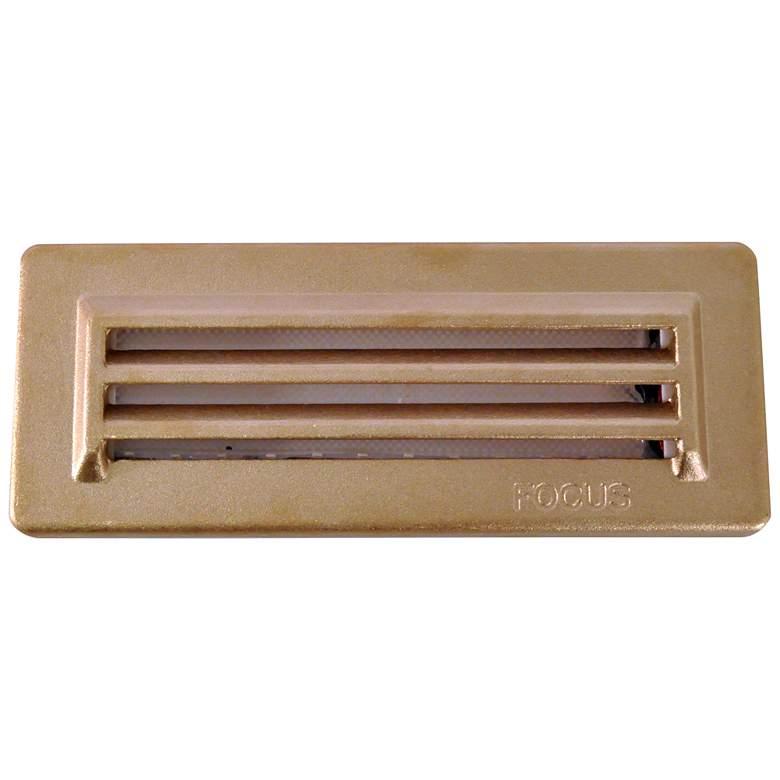 "Bronze Texture 8 1/4"" Wide 3-Louver LED Step/Brick"