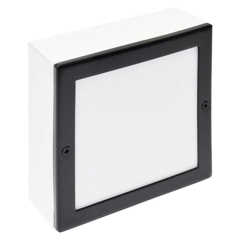 """Black Texture 6"""" Square LED Paver Light"""