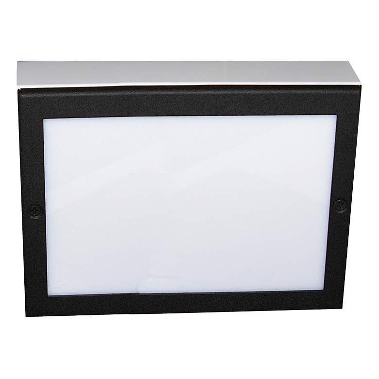 "Black Texture 9"" Wide LED Paver Light"
