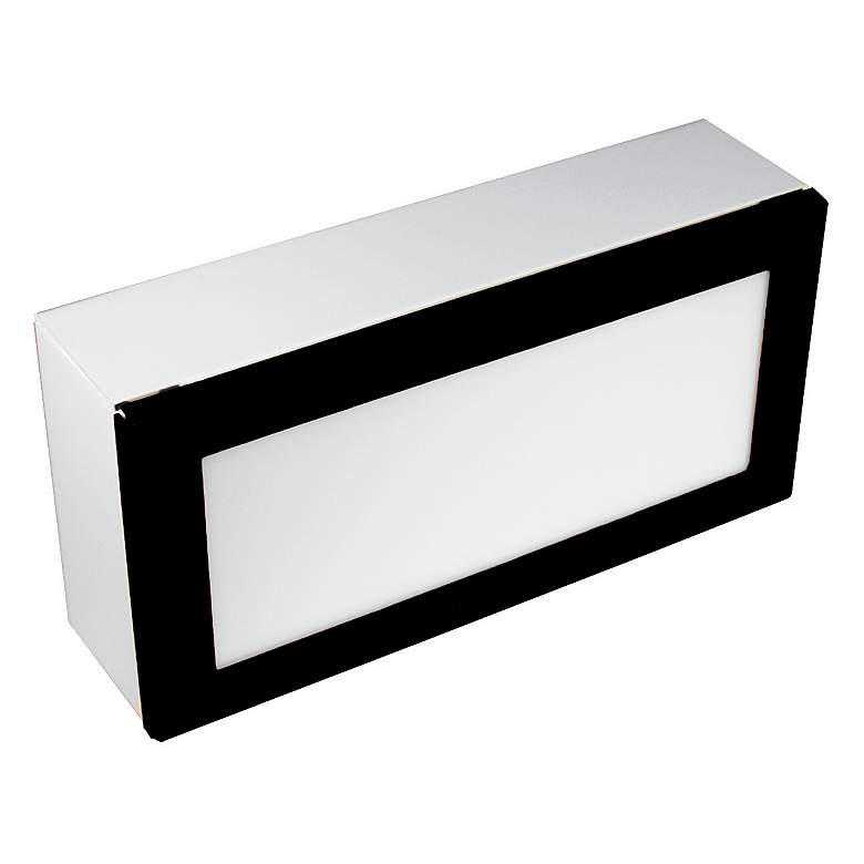 "Black Texture 8"" Wide LED Paver Light"
