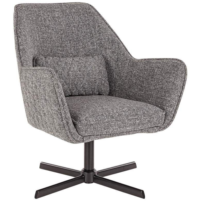 Diana Gray Noise Fabric and Black Metal Swivel