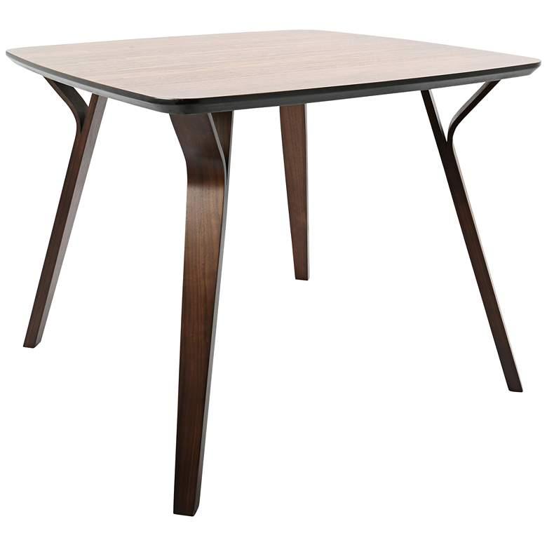 "Folia 38 1/2"" Wide Walnut Wood Dining Table"