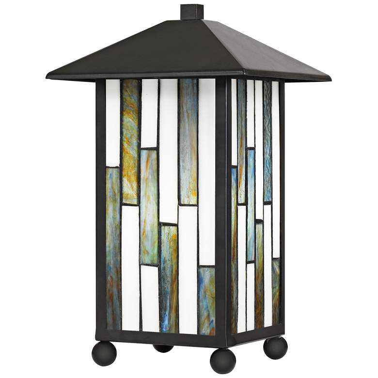 """Dormont 14 1/4"""" High Bronze Tiffany-Style Accent Table Lamp"""