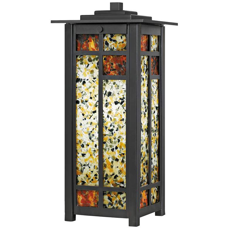 """Levan 15 1/2""""H Earth Black Tiffany-Style Accent Table Lamp"""