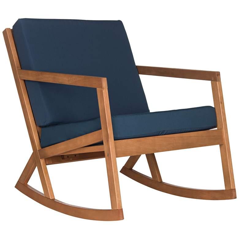 Vernon Teak Brown Eucalyptus Wood Outdoor Rocking Chair