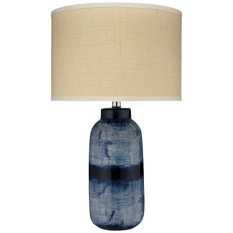 Jamie Young Batik Indigo Ceramic Table Lamp