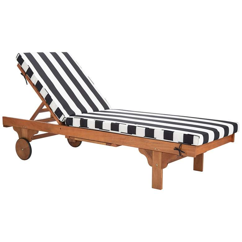 Safavieh Newport Teak Brown Eucalyptus Wood Lounge Chair