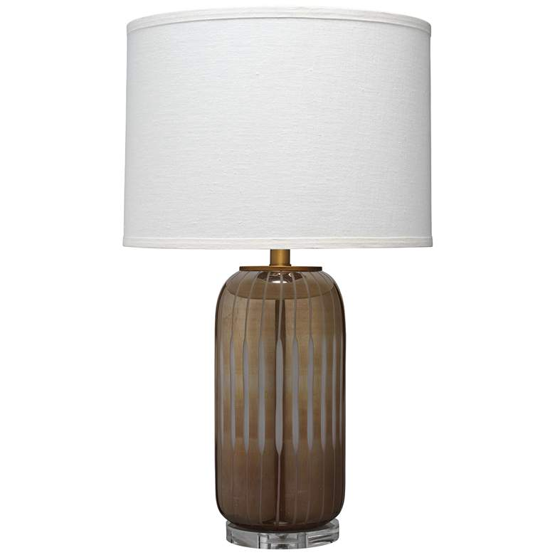 Jamie Young Hughes Mauve and Taupe Glass Table Lamp