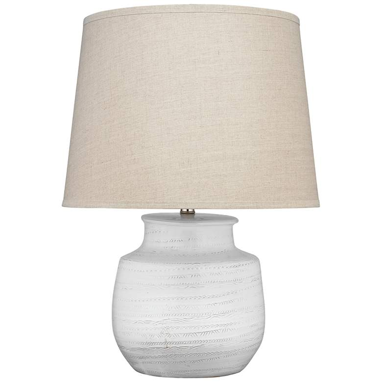 Jamie Young Trace Off-White Ceramic Table Lamp