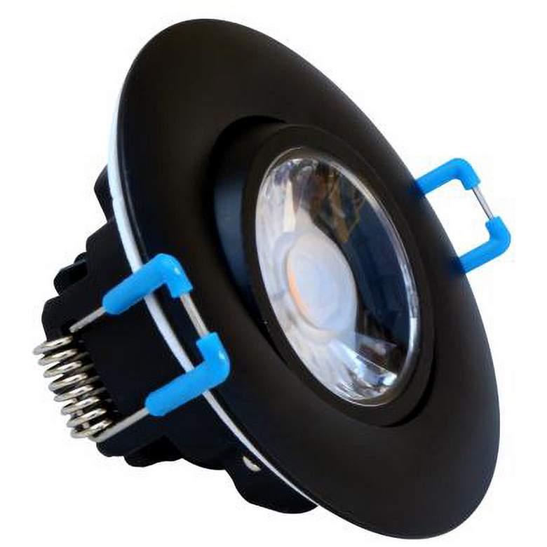 "Canless 3"" Round Gimbal Black 8 Watt LED Downlight"
