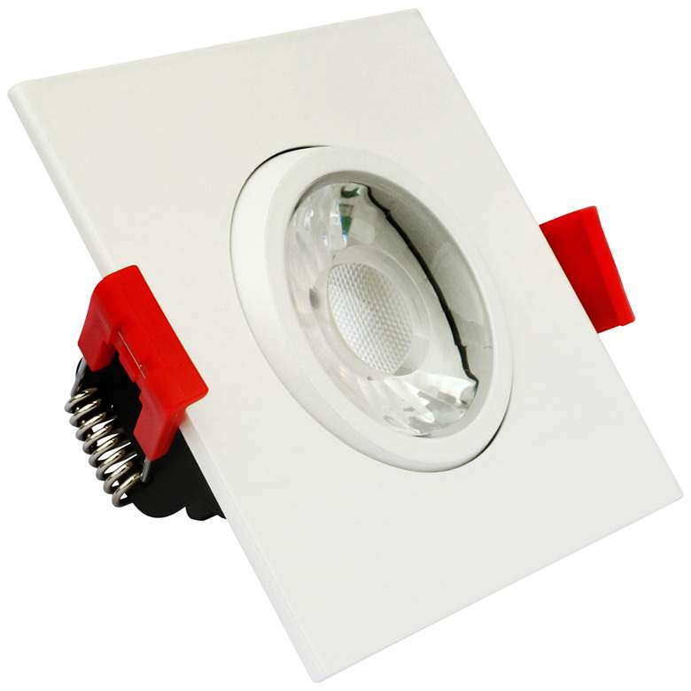 "Canless 3"" Square Gimbal White 8 Watt LED Downlight"