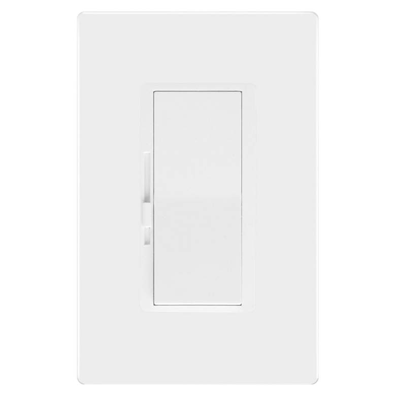 Tesler White Single Pole Dimmer With Faceplate
