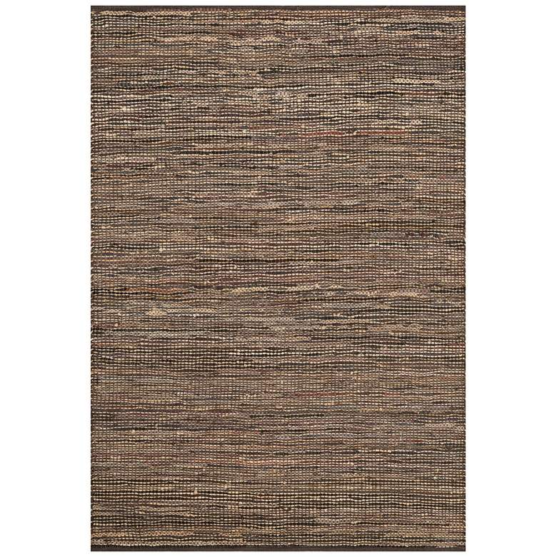 "Loloi Edge 5'x7'6"" Brown Hand-Made Area Rug"