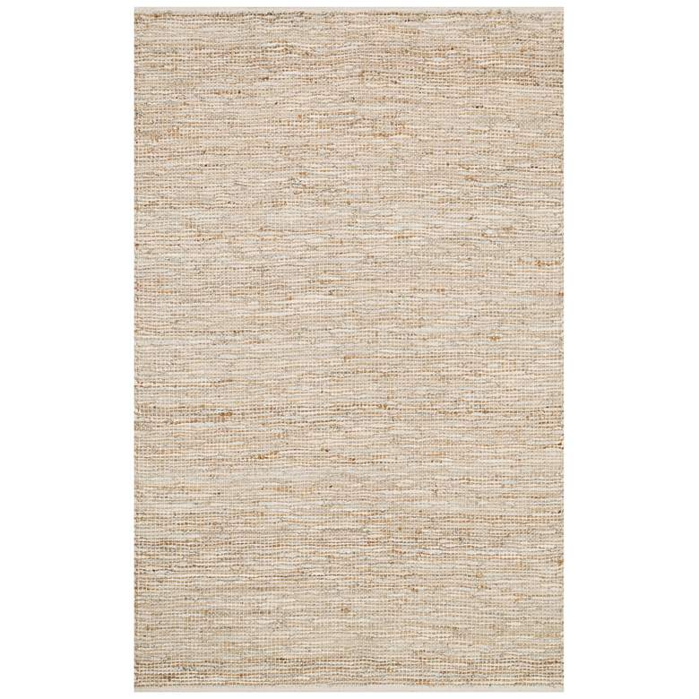 "Loloi Edge 5'x7'6"" Ivory Hand-Made Area Rug"