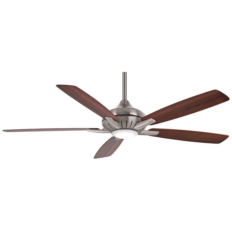 "60"" Minka Aire Dyno XL Maple and Walnut LED Ceiling Fan"