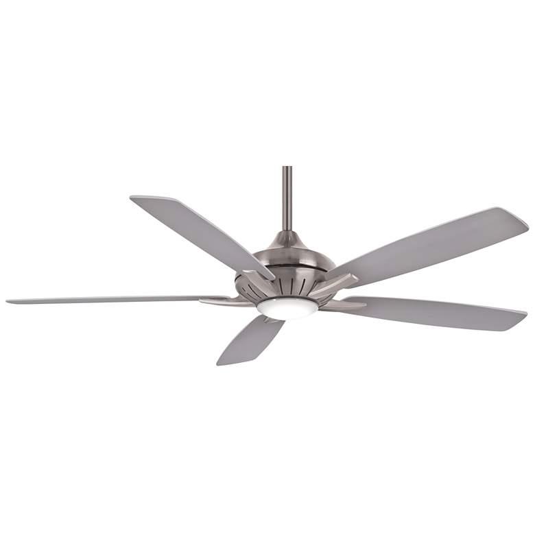"""60"""" Minka Aire Dyno XL Smart Fan Nickel LED Ceiling Fan"""