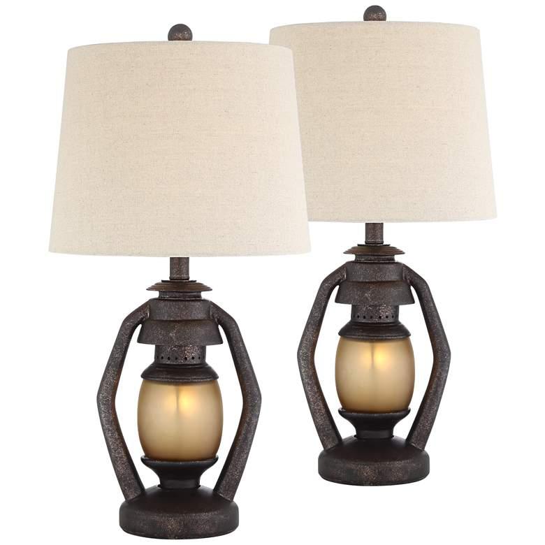 Horace Brown Miner Nightlight Table Lamps Set of 2