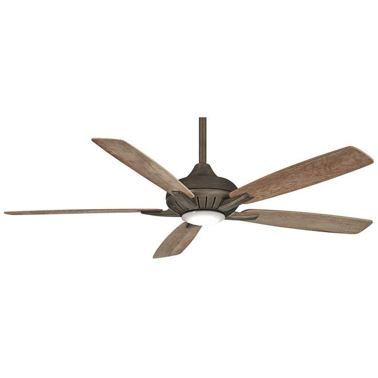 """60"""" Minka Aire Dyno XL Smart Fan Bronze LED Ceiling Fan"""