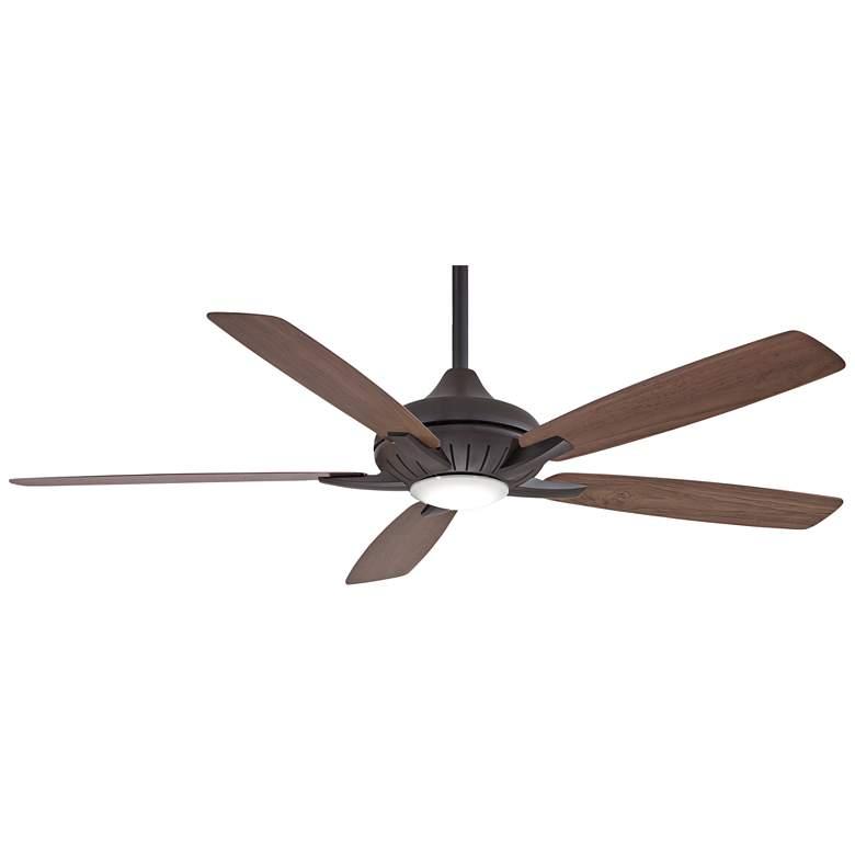 "60"" Minka Aire Dyno XL Oil-Rubbed Bronze LED Smart Ceiling Fan"