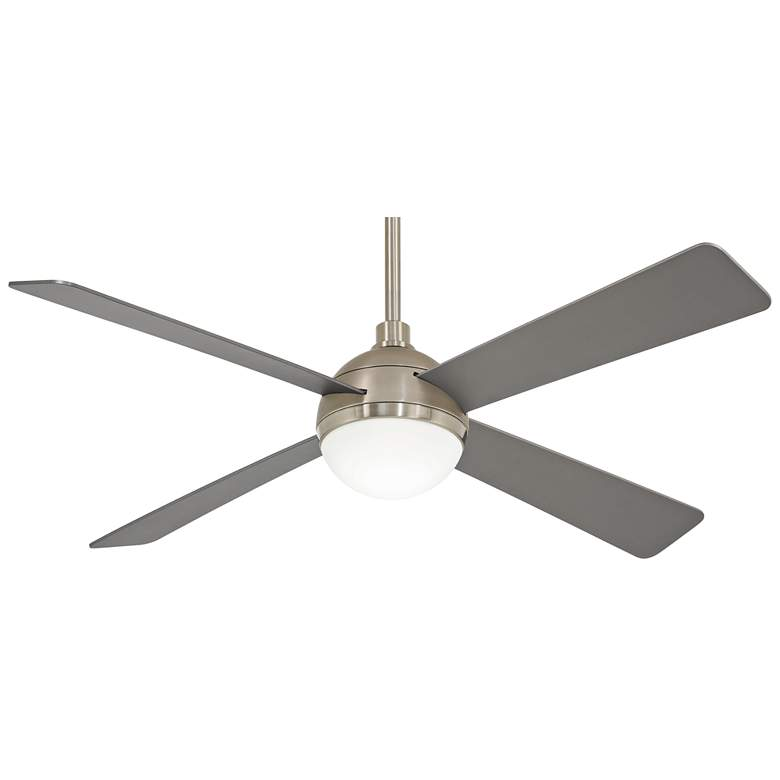 "54"" Minka Aire Orb Brushed Steel LED Ceiling Fan"