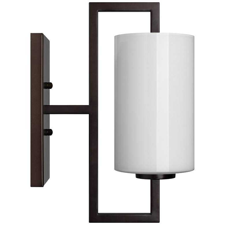 """Blueprint 13""""H Oil-Rubbed Bronze w/ White Glass Wall Sconce"""