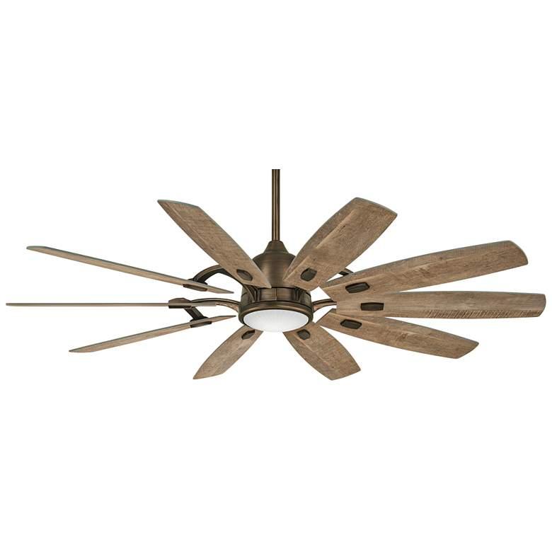 """65"""" Minka Aire Barn Heirloom Bronze Smart Fan LED Ceiling Fan"""