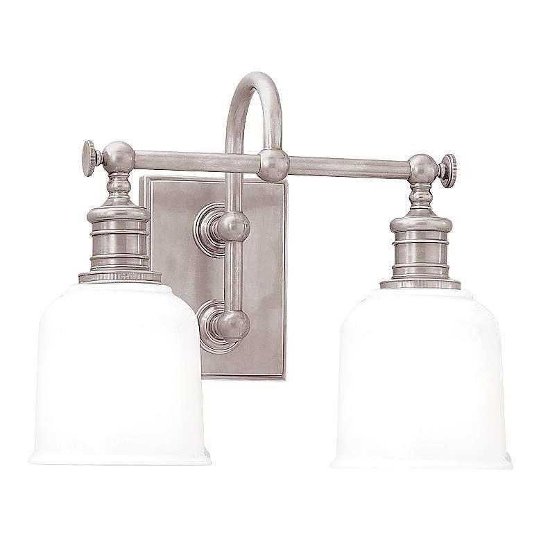 "Hudson Valley Keswick 13 1/2""W Satin Nickel Bath Light"