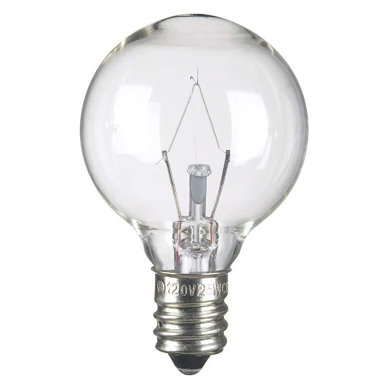 25 Watt G-11 Krypton Clear Candelabra Base Light
