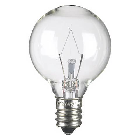 25 Watt G-11 Krypton Clear Candelabra Base Light Bulb