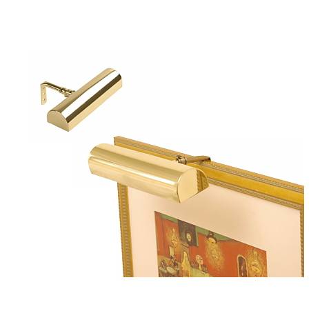 "Concept 8"" Wide Polished Brass Cordless Picture Light"