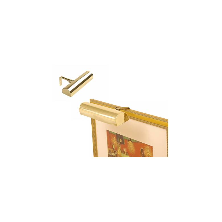 """Concept 8"""" Wide Polished Brass Cordless Picture Light"""