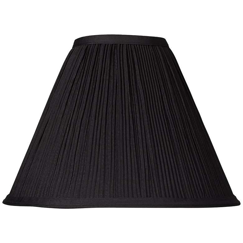 Black Mushroom Pleated Lamp Shade 4X11X8.5 (Spider)