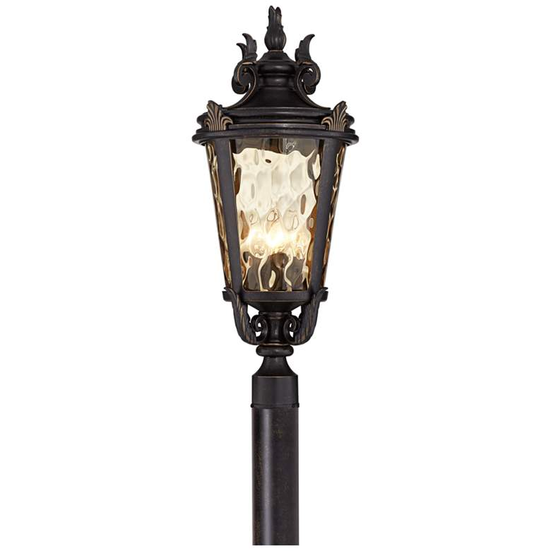 """Casa Marseille™ 28"""" High Bronze 4-Light Outdoor Post Light"""