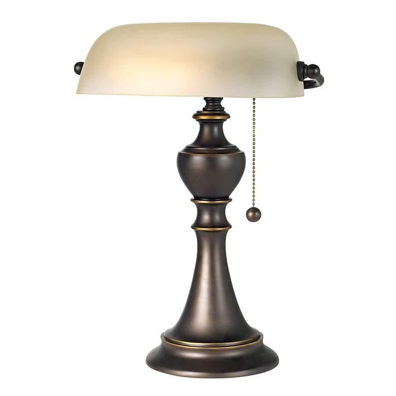 Haddington Alabaster Glass Pull Chain Piano Lamp