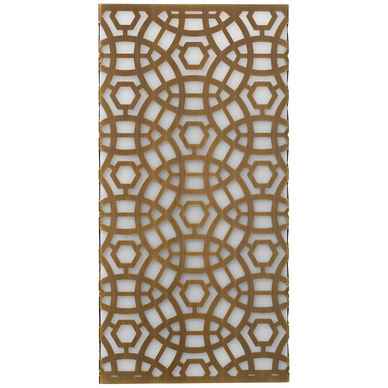 "Jamie Young Geo 16"" High Antique Brass Wall"