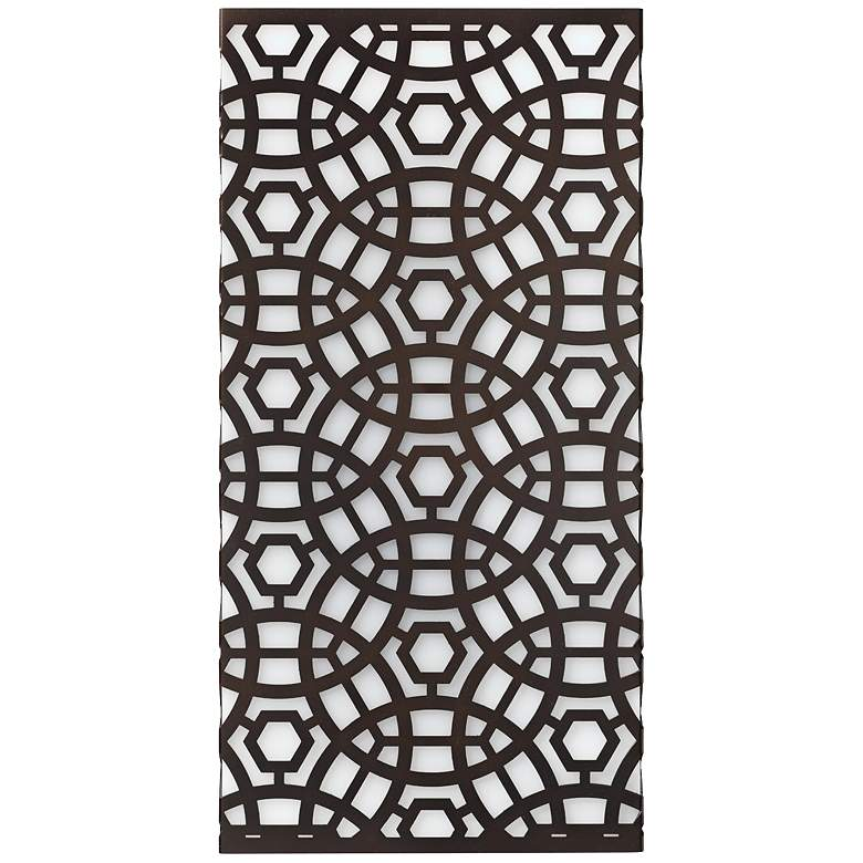 """Jamie Young Geo 16"""" High Oil-Rubbed Bronze Wall Sconce"""