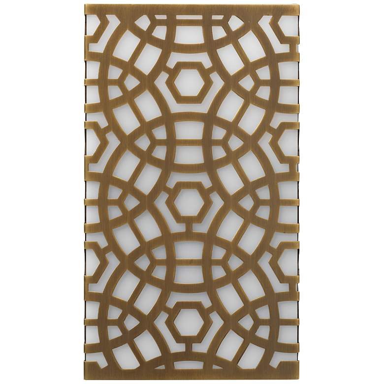 """Jamie Young Geo 10 1/2"""" High Antique Brass Wall Sconce"""