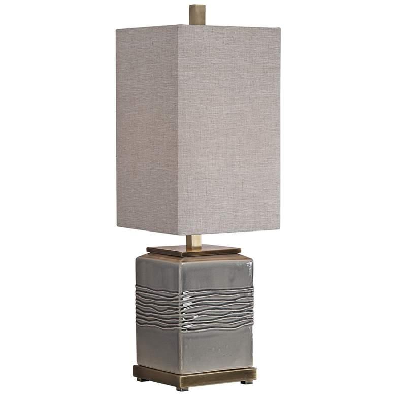 Uttermost Covey Warm Gray Glaze Ceramic Buffet Table Lamp