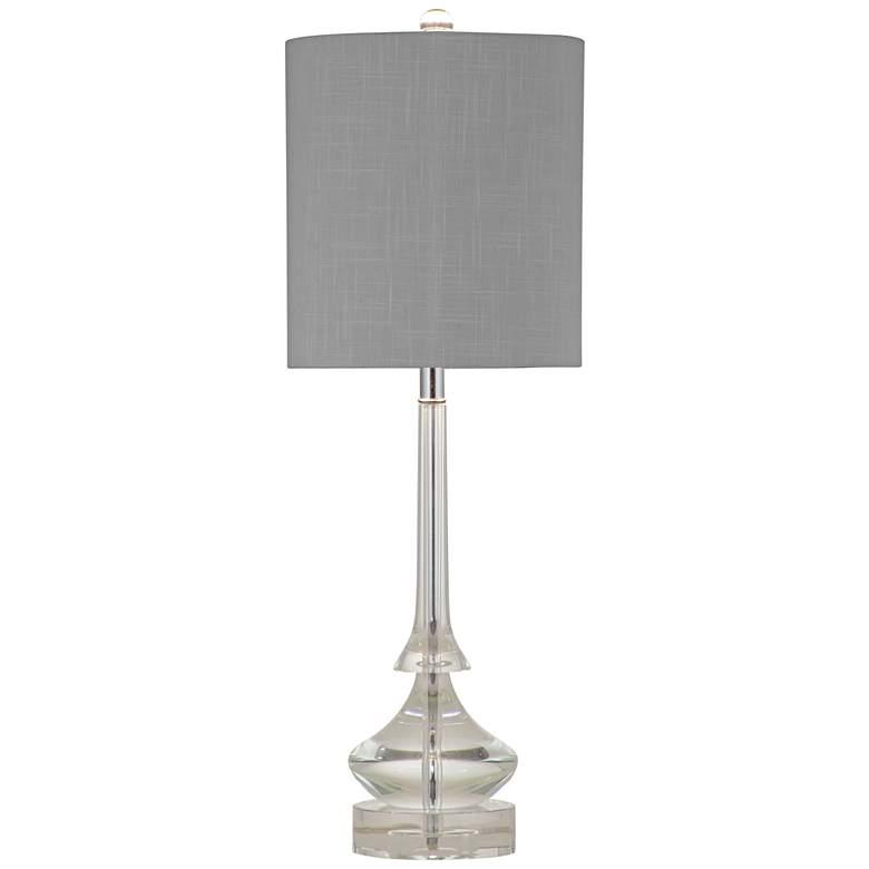 Rivoli Clear Crystal Glass LED Table Lamp