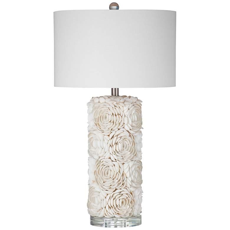 Coastal Shell Handcrafted LED Night Light Table Lamp