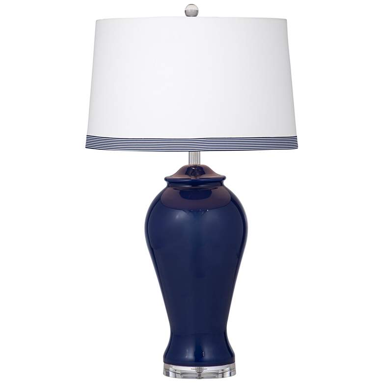 Hastings Navy Blue Glass Jar LED Table Lamp