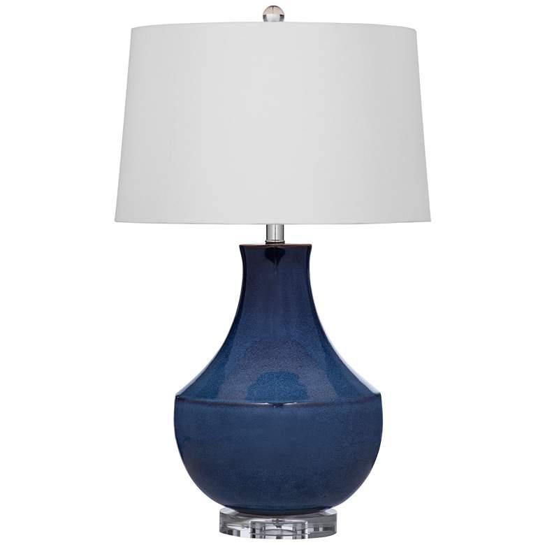 Kinney Blue Ceramic Gourd LED Table Lamp