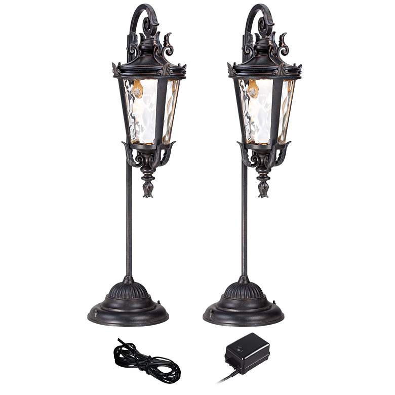 Casa Marseille Bronze 4-Piece LED Landscape Path Light