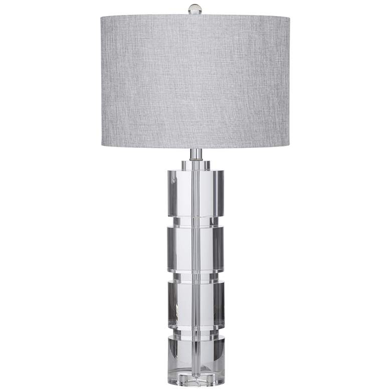 Bethany Crystal Fluted Glass Column LED Table Lamp
