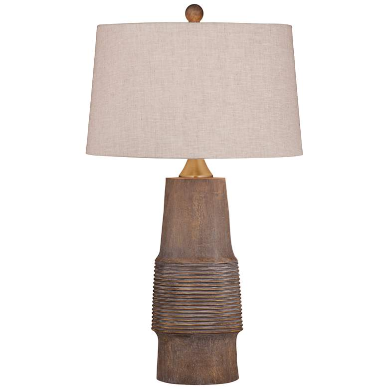 Kingsley Natural Wood Tone LED Table Lamp