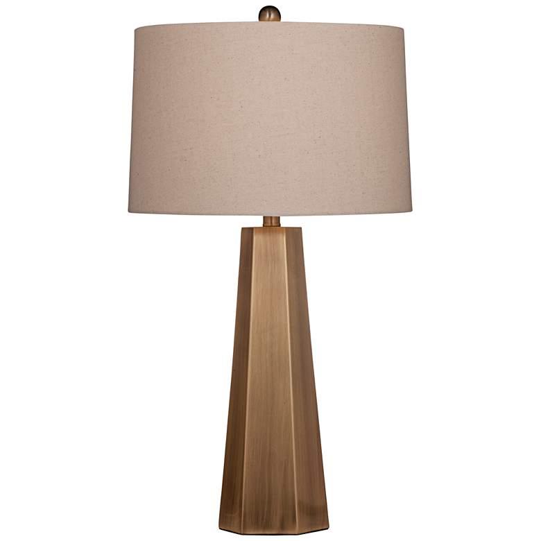Marsham Brushed Gold Hexagonal LED Table Lamp