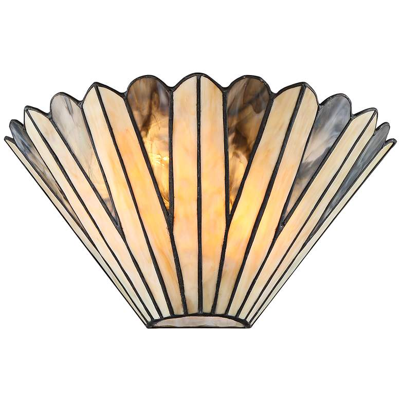 """Petals 6"""" High Bronze Tiffany Style Wall Sconce"""