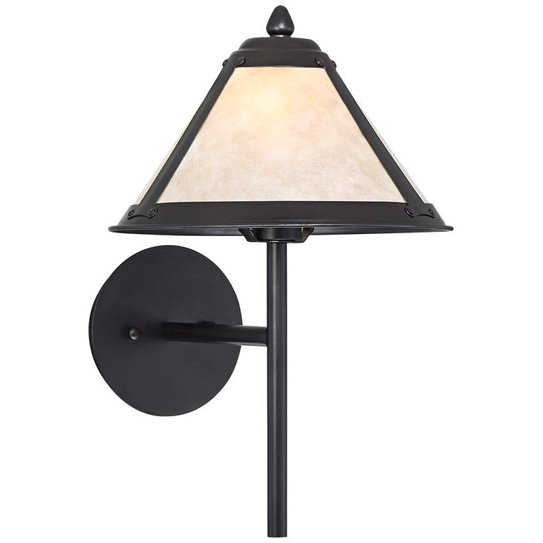 """Leiston 16"""" High Mission Bronze Wall Light Sconce"""