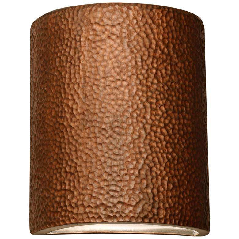 """Hammerman 10"""" High Rubbed Copper Ceramic Outdoor Wall Light"""